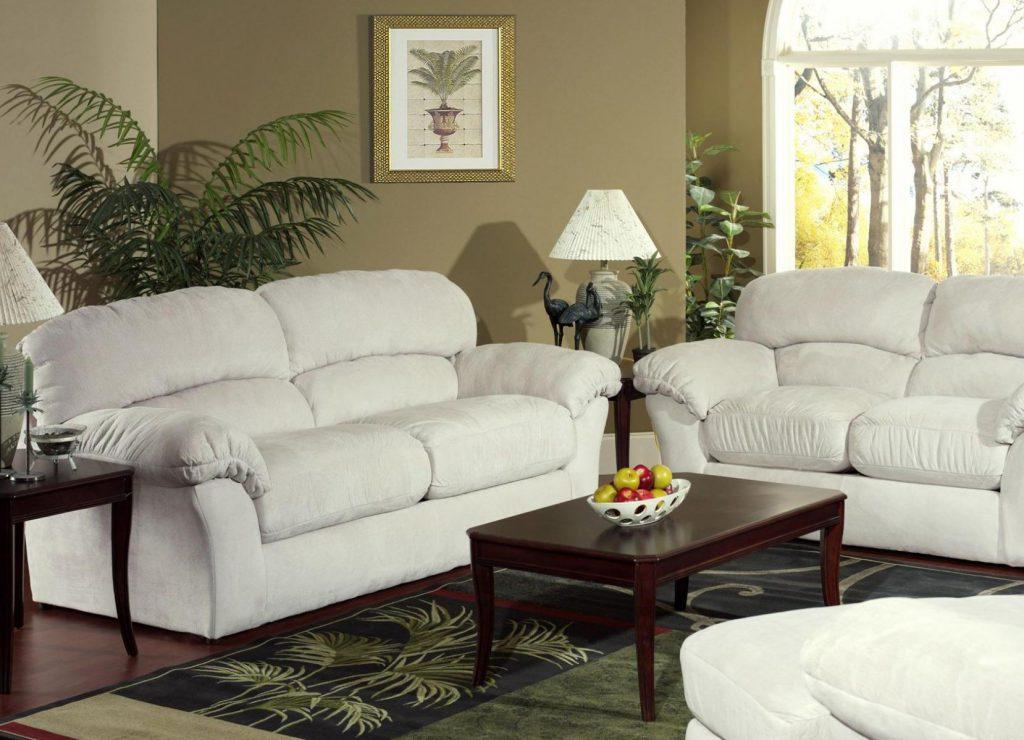 Белые мини диваны для гостиной