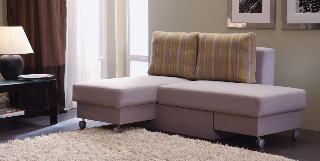 Сиреневый небольшой модульный диван