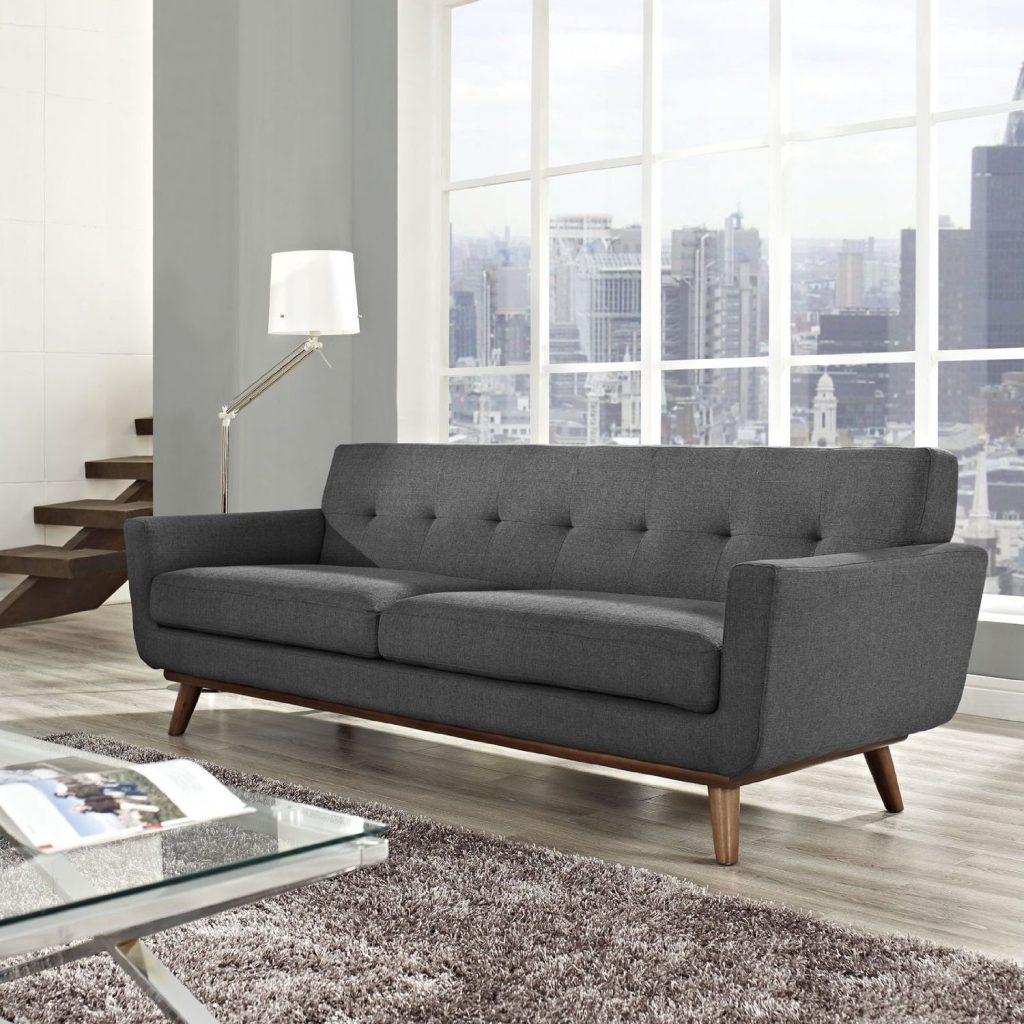 Модный серо-коричневый диван