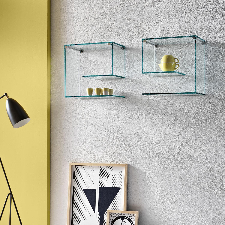 Дизайн стеклянных полок