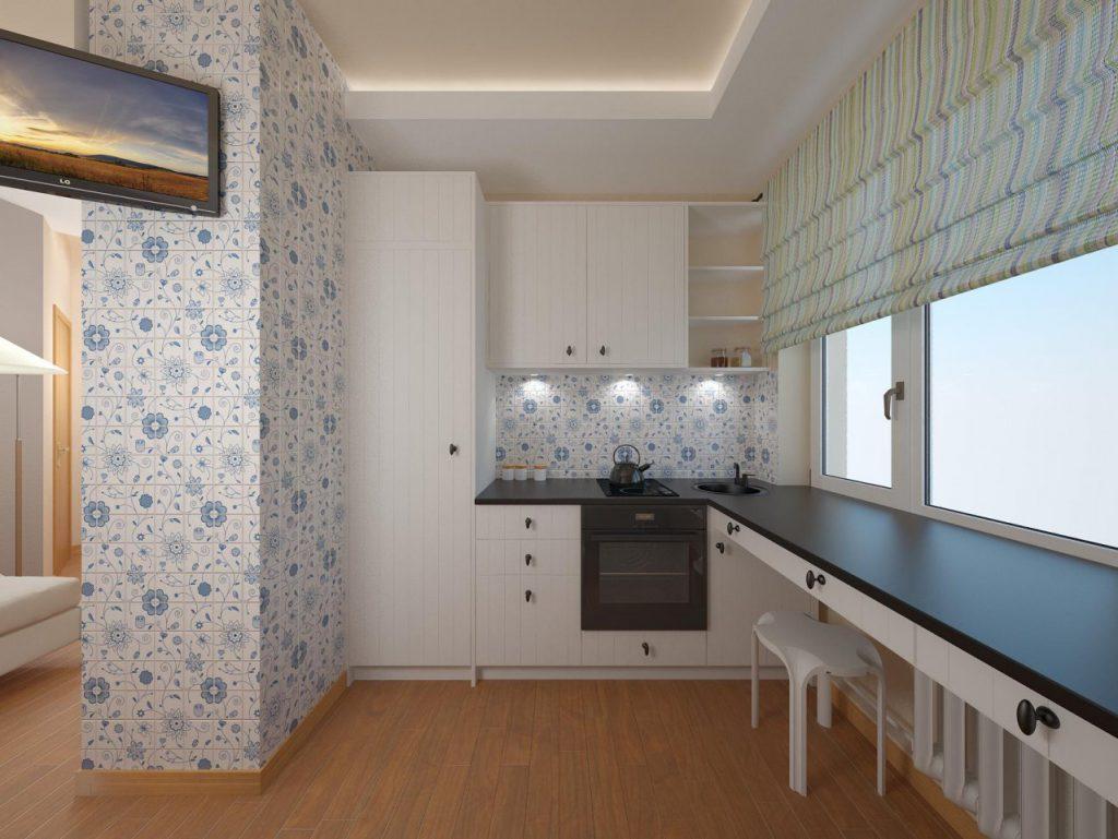 Плитка с узором на кухне