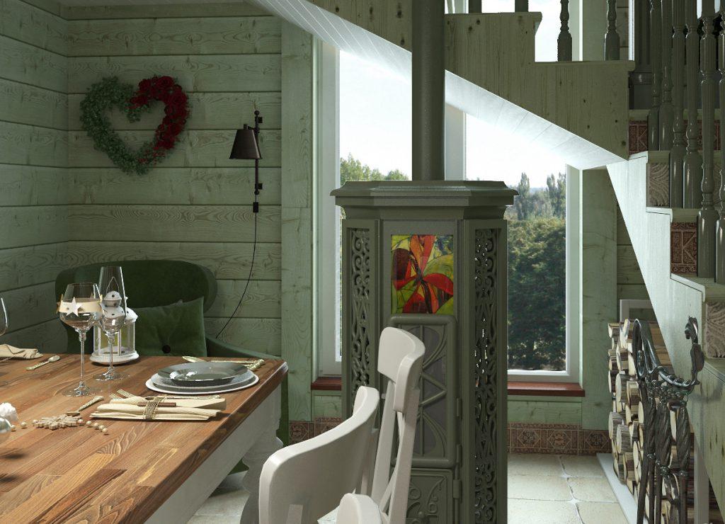 Изумрудная столовая на даче