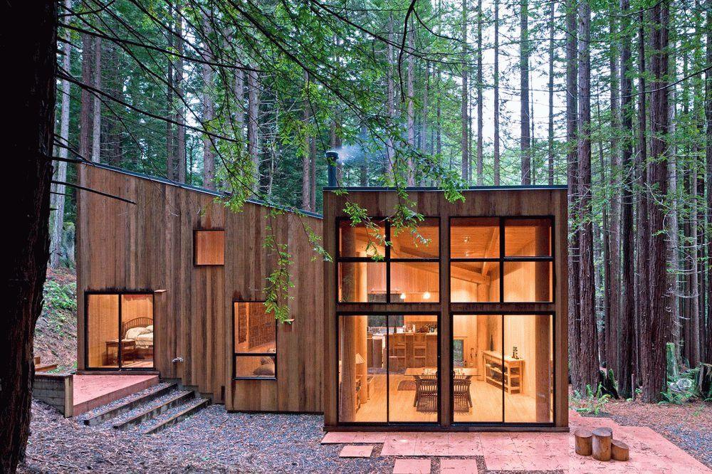 Необычный дизайн крыльца одноэтажного дома