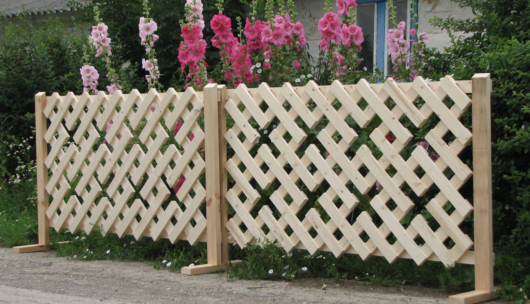 Геометрический деревянный забор