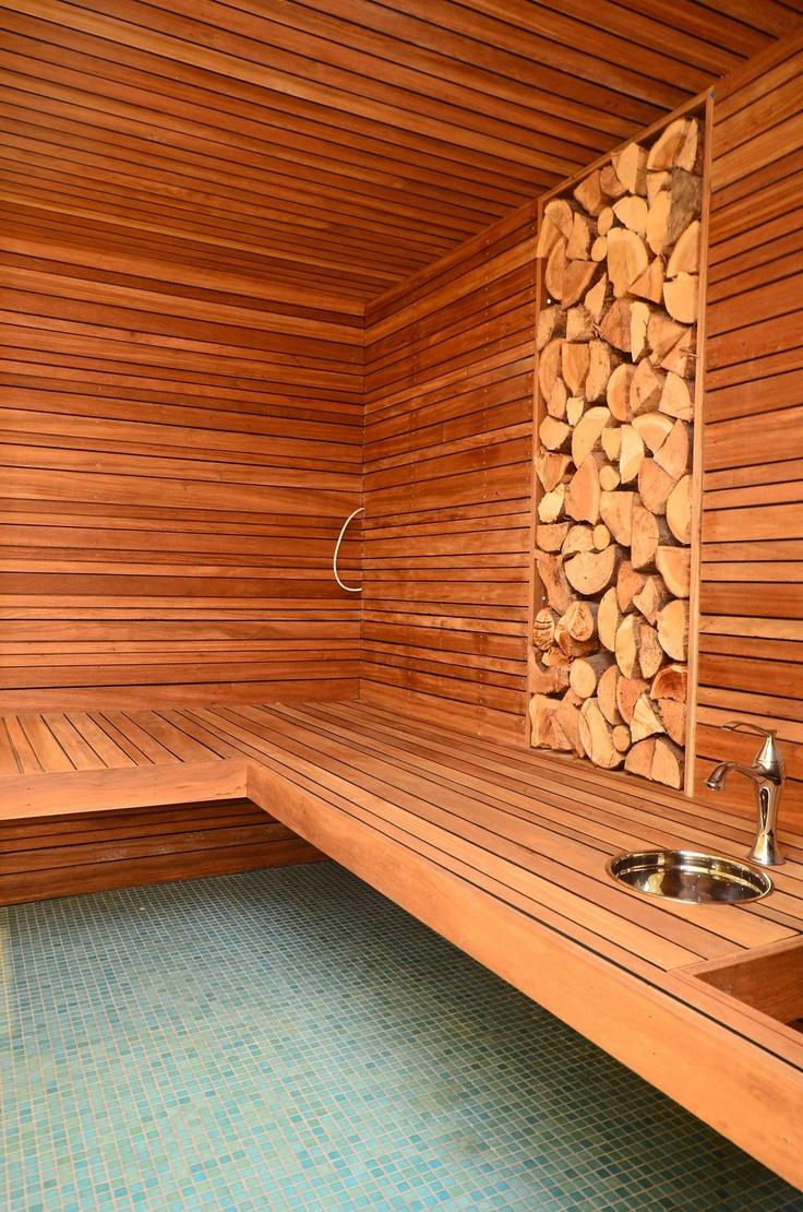 Интерьер бани в стиле эко