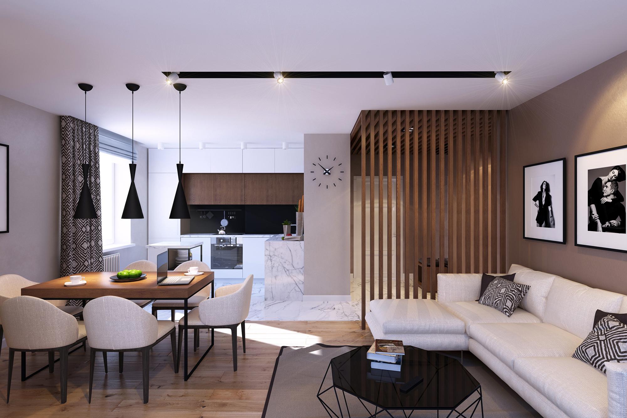 Квартира в сдержанных тонах в эко-стиле