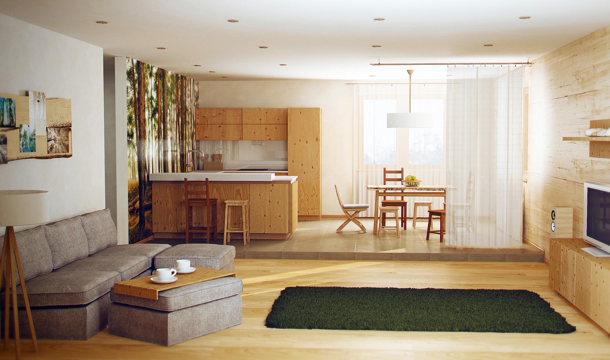Небольшая квартира в эко-стиле