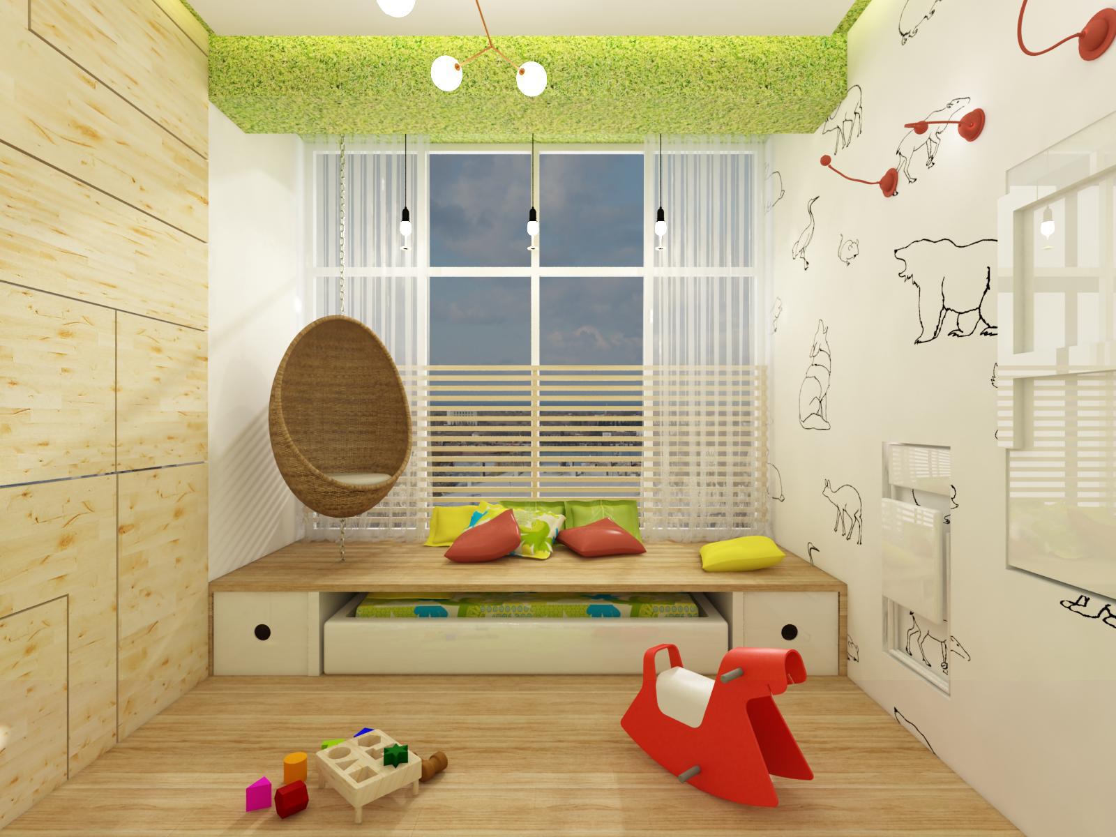 Проект детской в эко-стиле