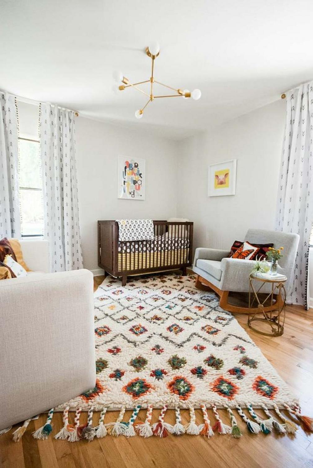 Дизайн штор для детской комнаты в стиле этно