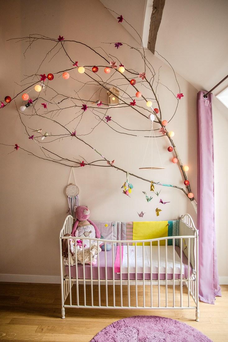 Дизайн штор для детской комнаты фиолетовый