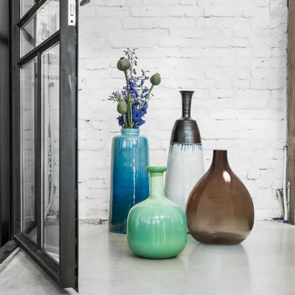 Глазурованная напольная ваза