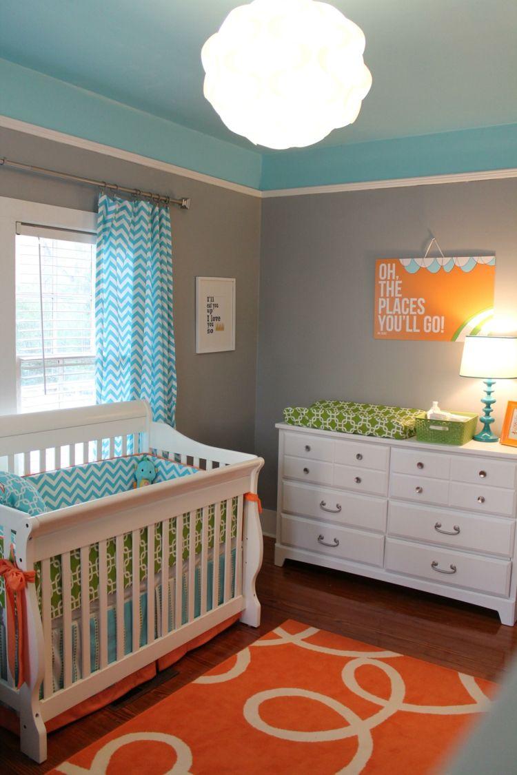 Дизайн штор для детской комнаты голубой