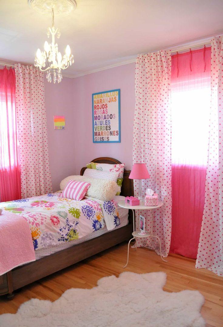 Дизайн штор для детской комнаты с горошком
