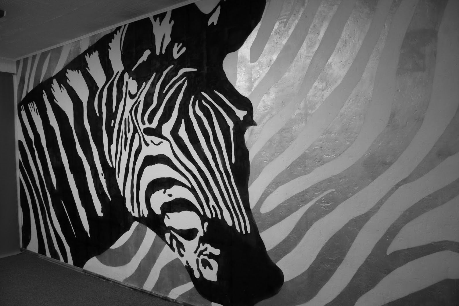 Рисунок зебры в интерьере