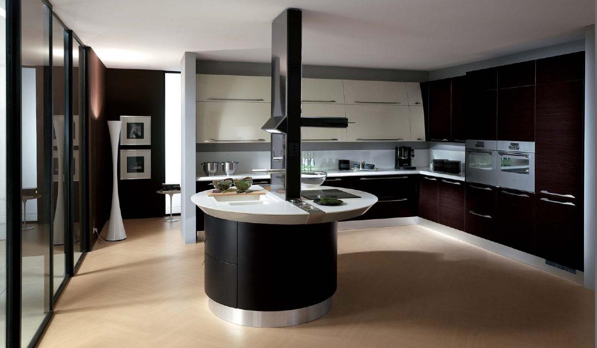 Кухня хай-тек в черно-белых тонах