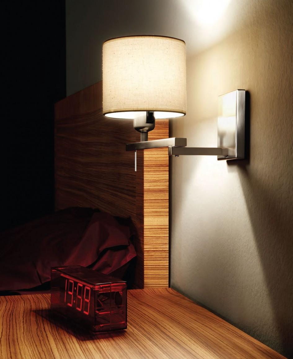 Хромированный прикроватный светильник