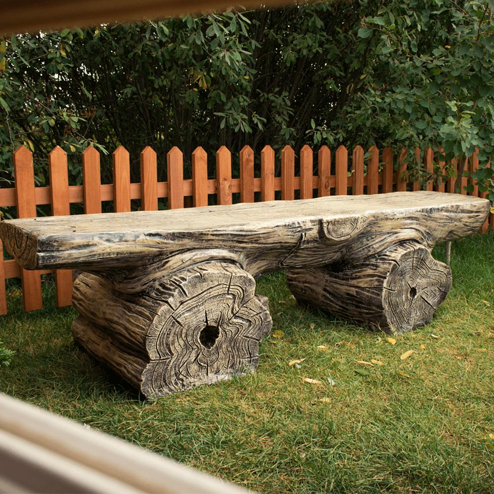 Скамейка в форме старого дерева для сада или дачи