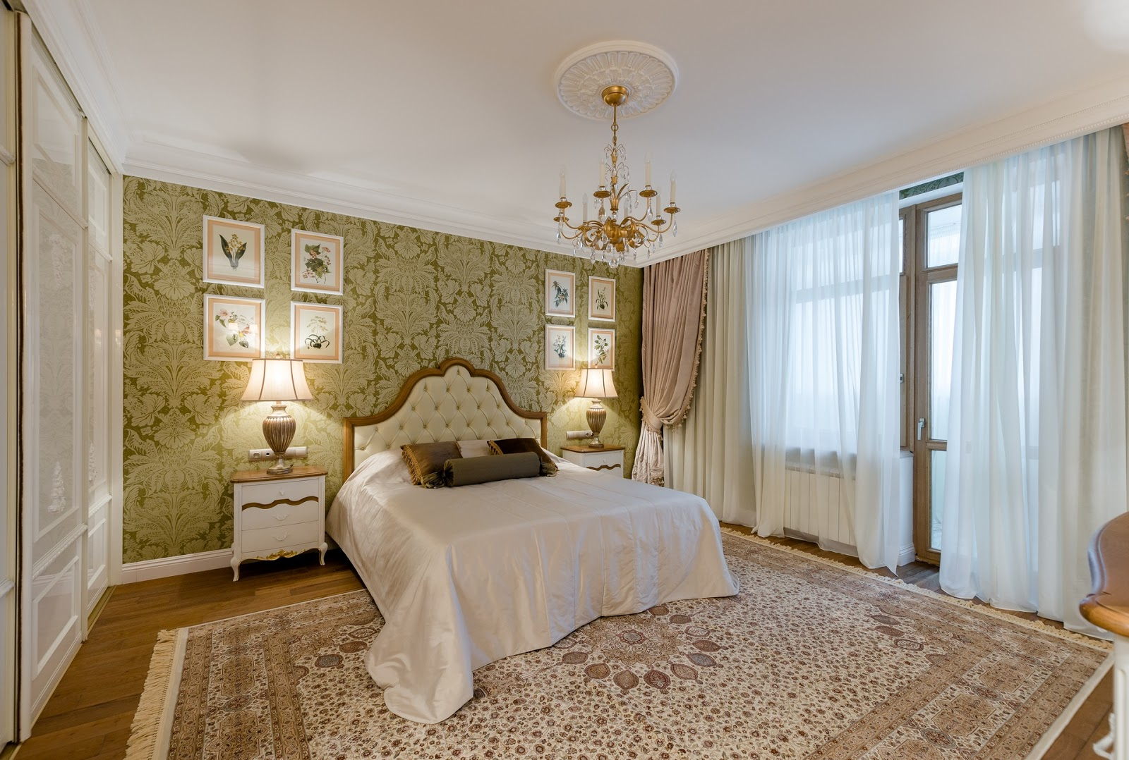Просторная спальня в итальянском стиле