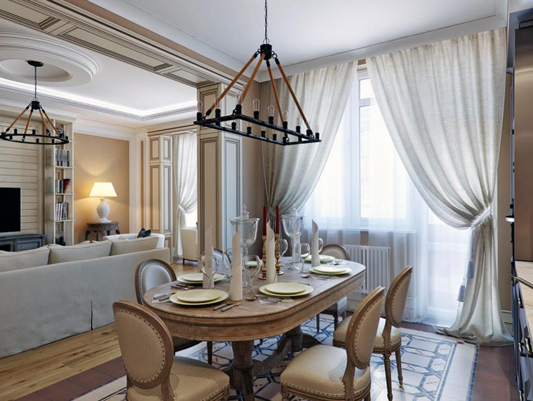 Дерево и плитка в интерьере квартиры в итальянском стиле