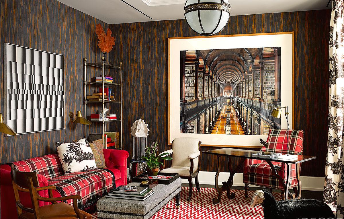 Сочетание коричневого цвета в интерьере кабинета