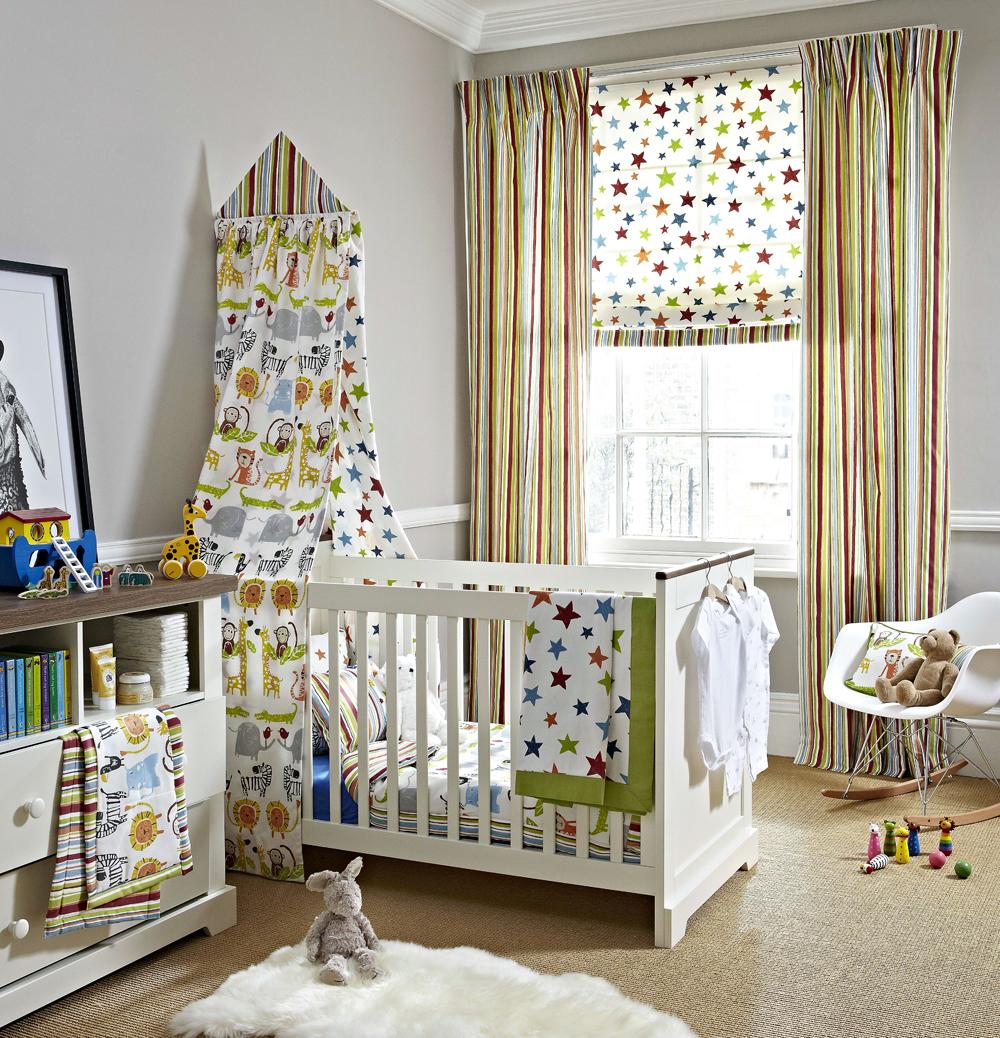 Дизайн штор для детской комнаты комбинированный