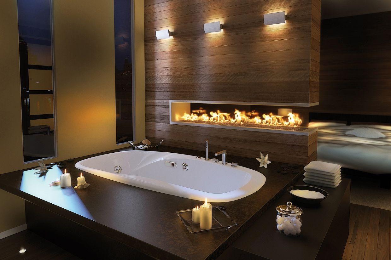Сочетание коричневого и оливкового цветов в ванной