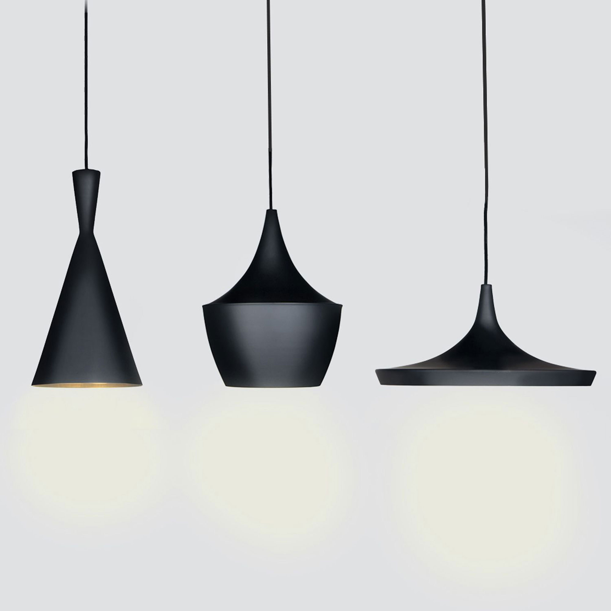 Оригинальные черные люстры