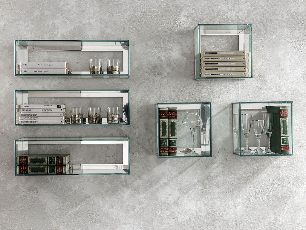 Квадратные стеклянные полки