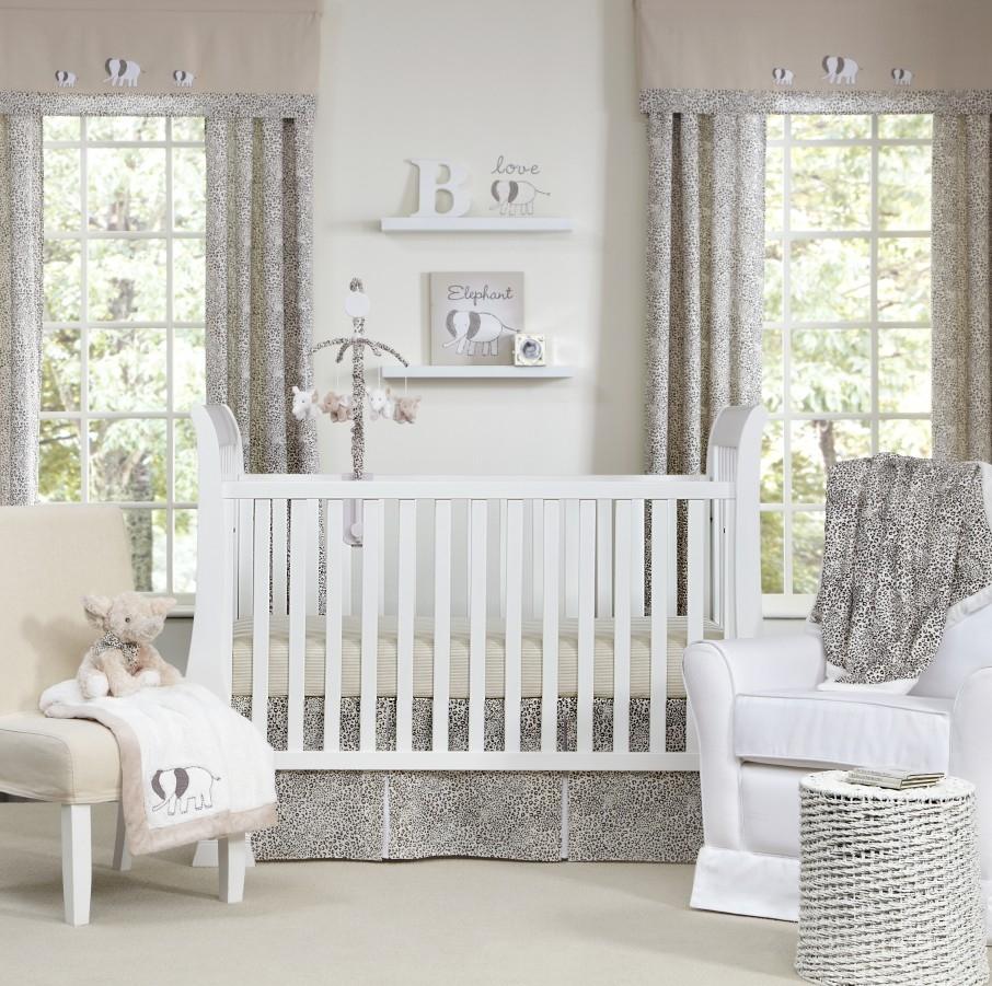 Дизайн штор для детской комнаты леопардовый