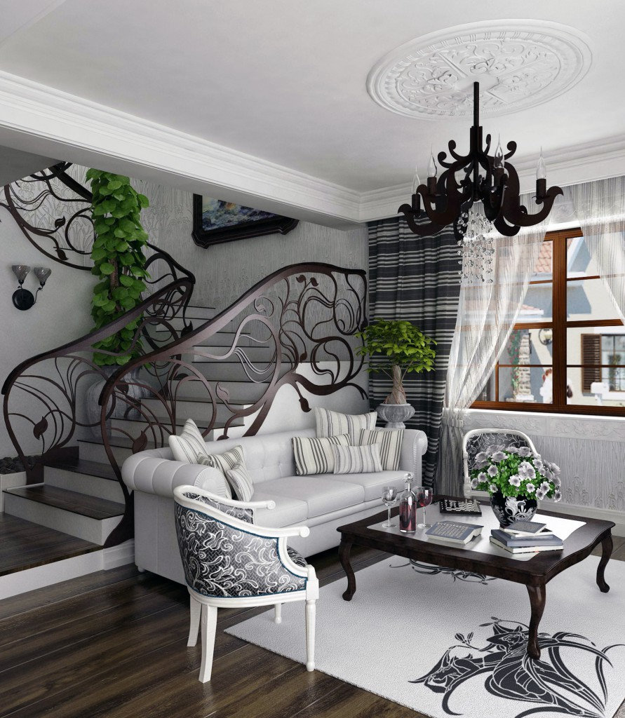 Необычная лестница в стиле модерн
