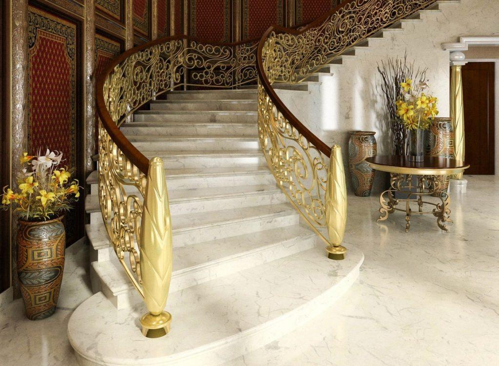 Шикарная каменная лестница