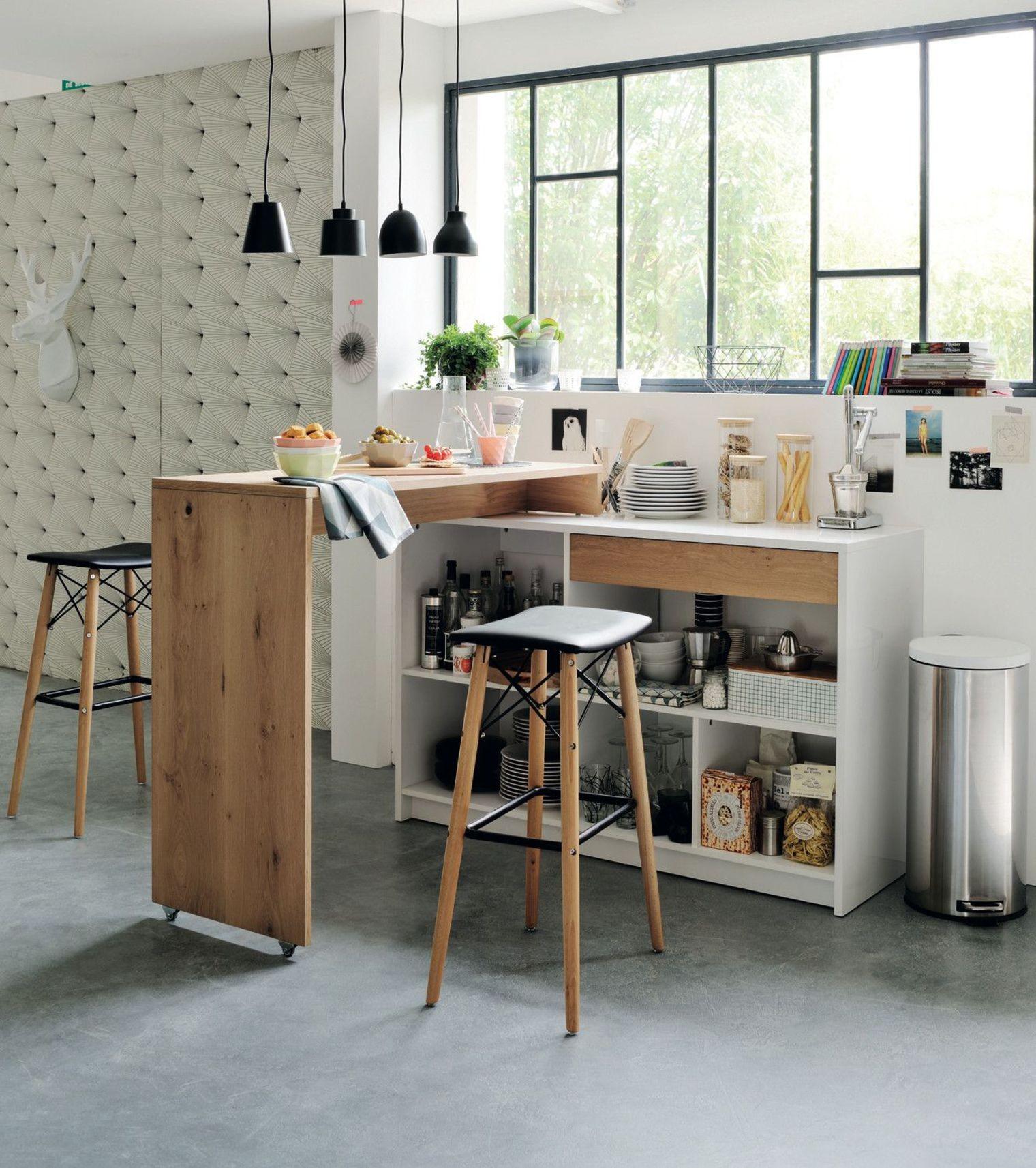 Дизайн кухни с барной стойкой маленькой