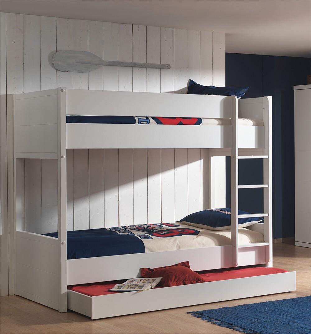 Двухъярусная детская кровать из МДФ