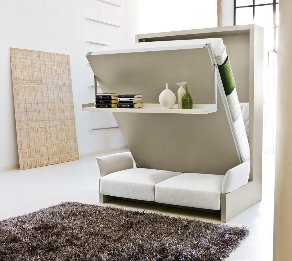 Серый шкаф-трансформер в квартиру