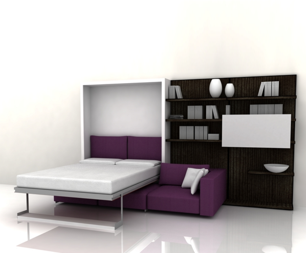 Шкаф, трансформирующийся в кровать или диван