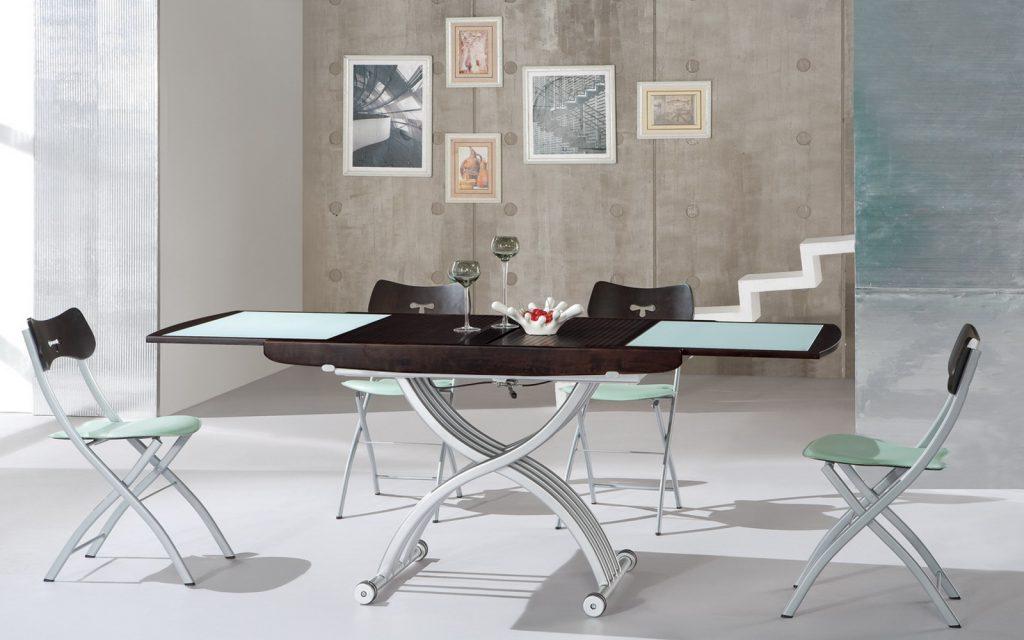 Раздвижной обеденный стол с регулировкой высоты