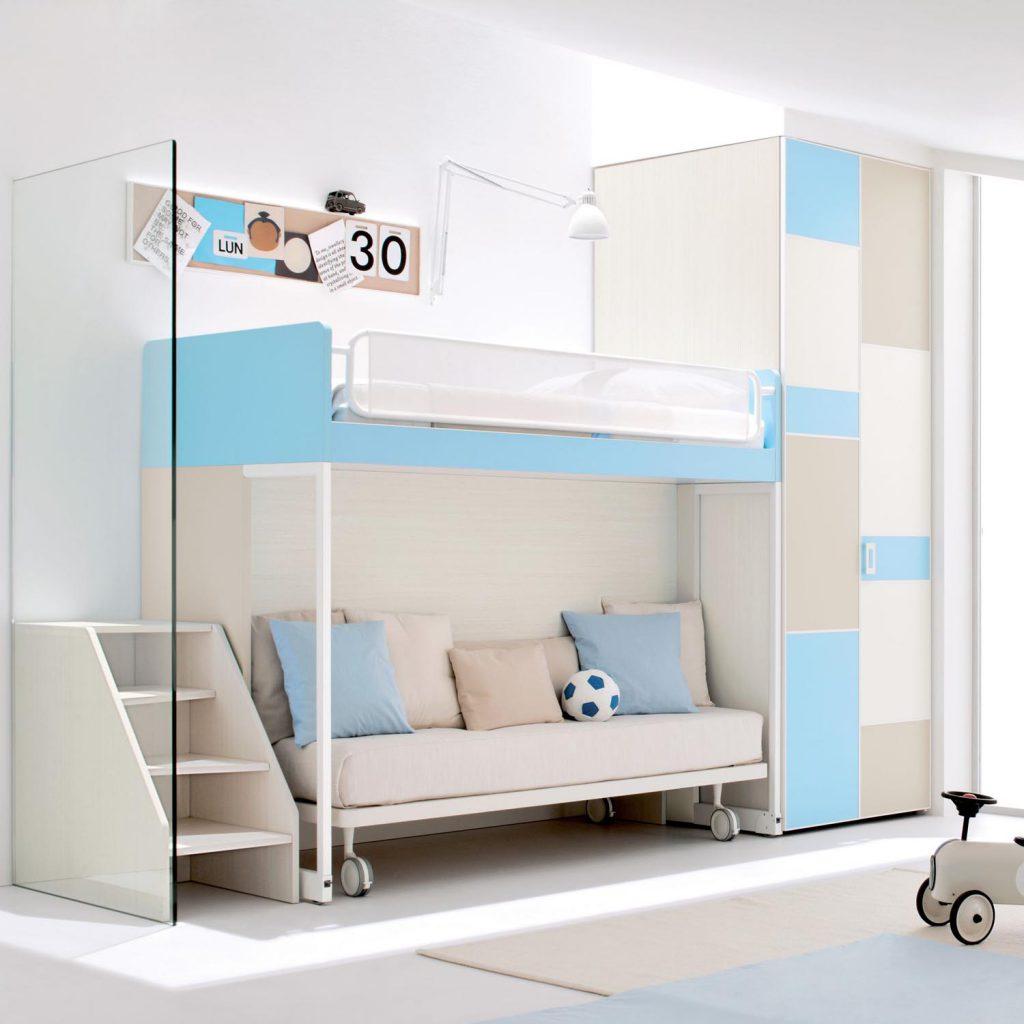 Двухуровневая кровать-трансформер для двух детей