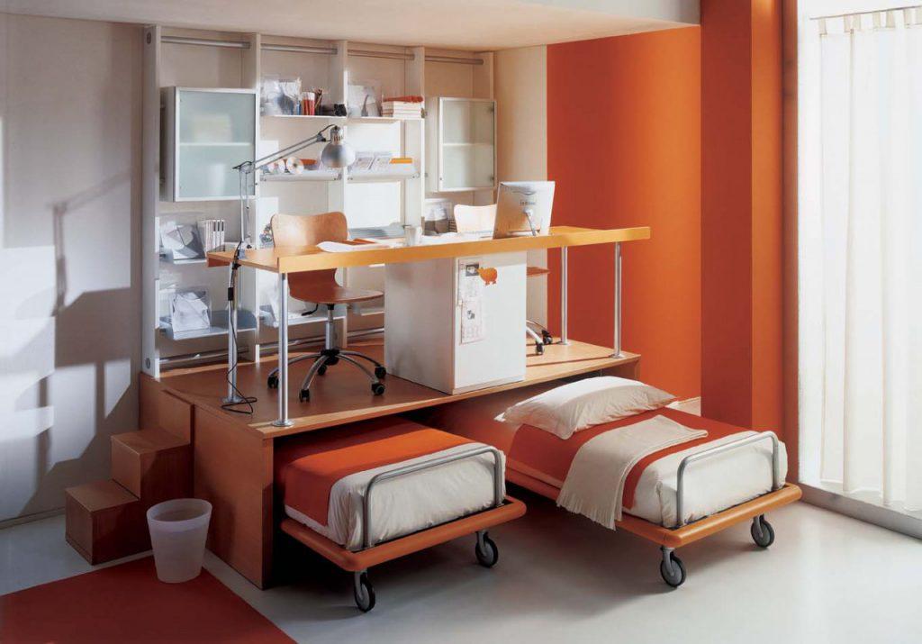 Компактная мебель-трансформер для двух детей