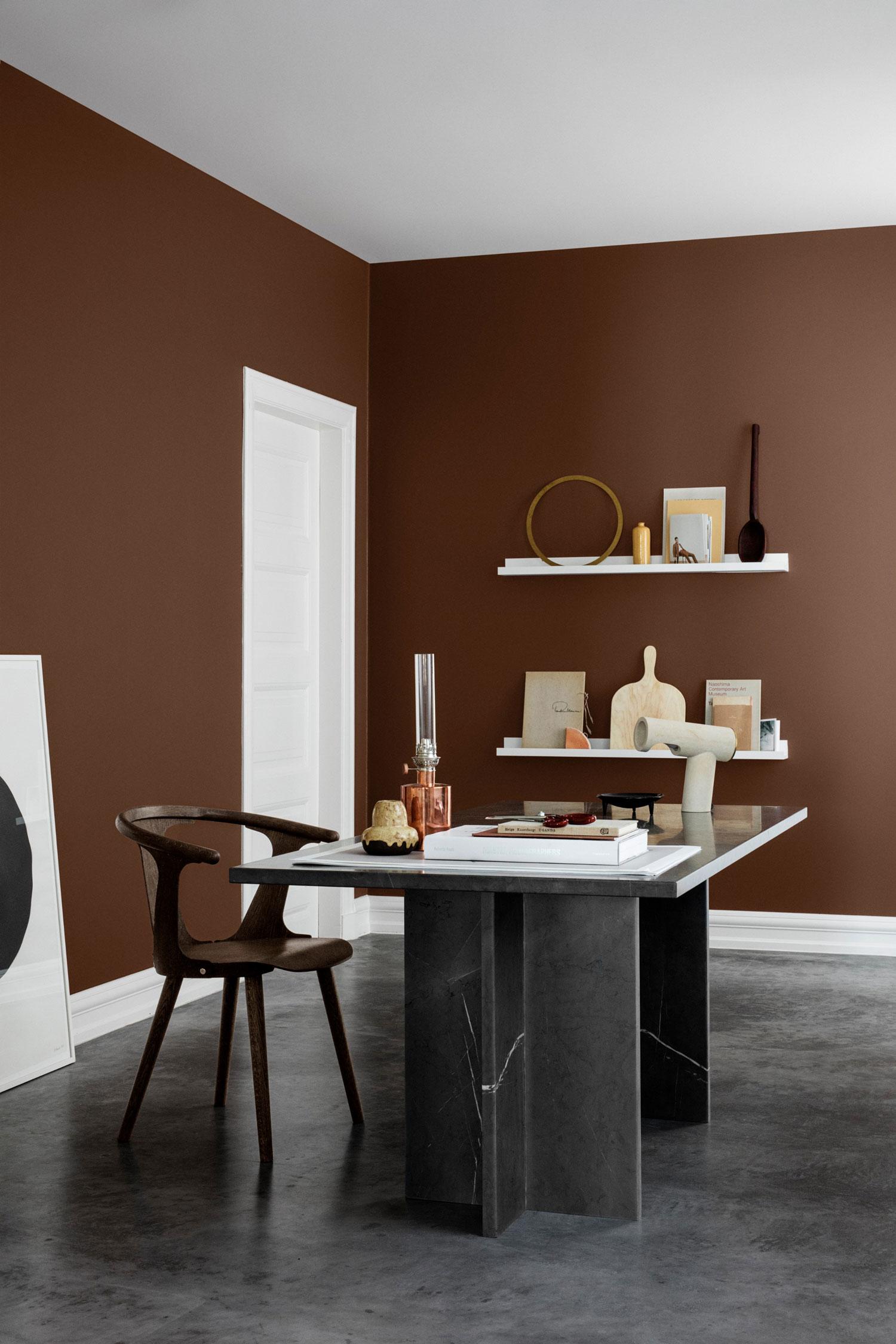 Сочетание коричневого цвета в интерьере минимализма