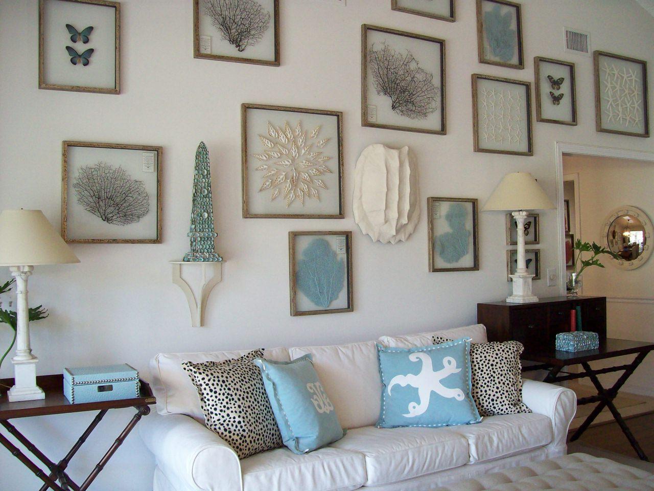 Декор стены картинками в морском стиле