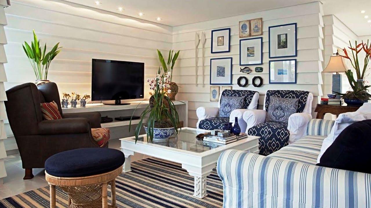 Маленькая гостиная в морском стиле