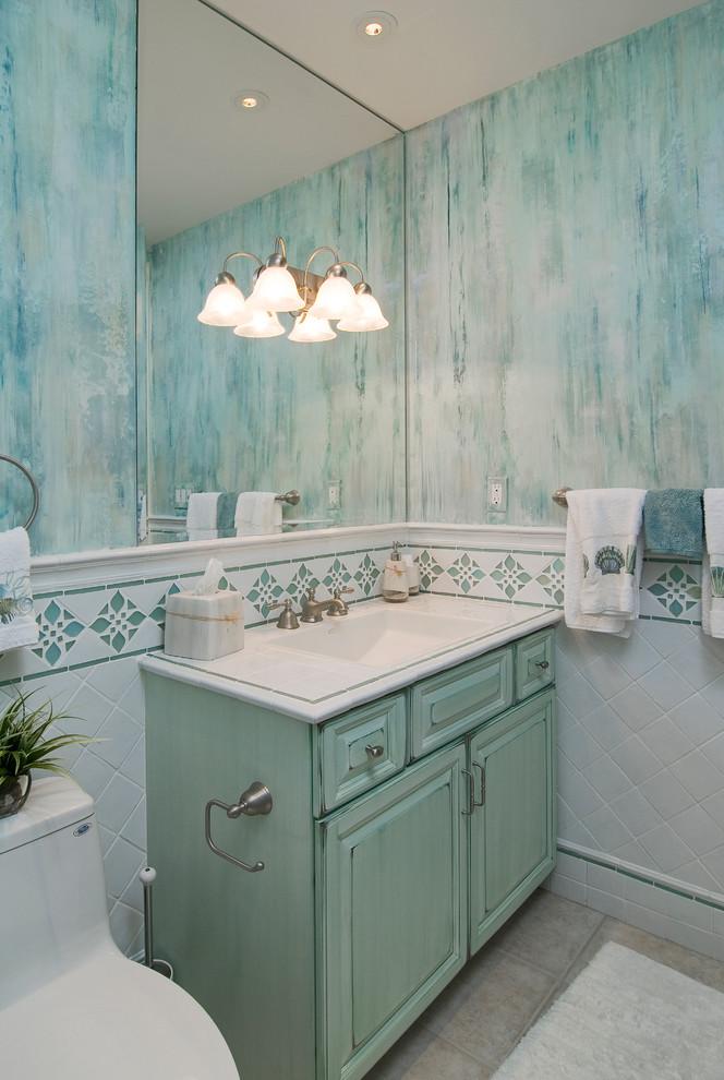 Морская ванная в морском ретро стиле