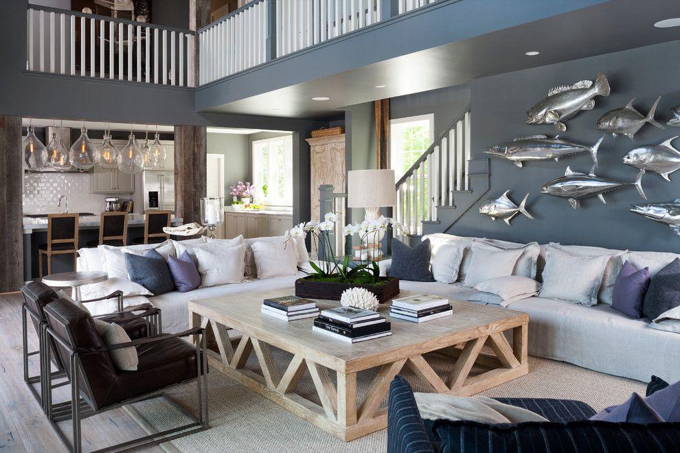 Интерьер дома в морском стиле