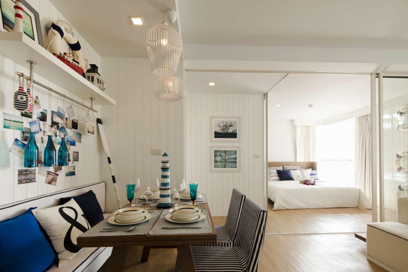 Квартира в ненавязчивом морском стиле