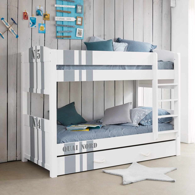 Двухъярусная детская кровать с надписью