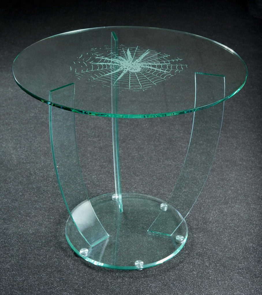 Стеклянная круглая подставка для цветов