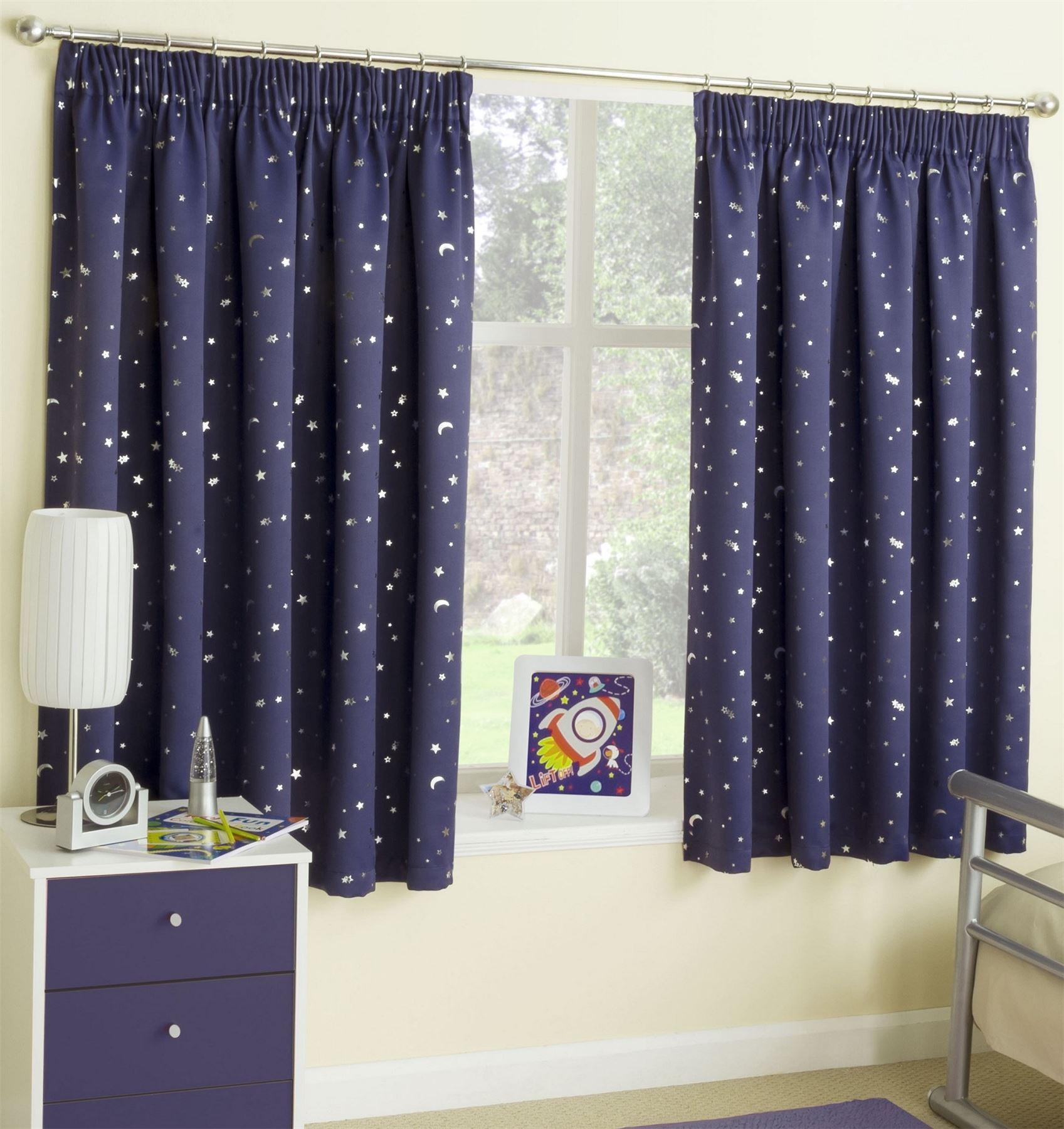 Дизайн штор для детской комнаты звездное небо