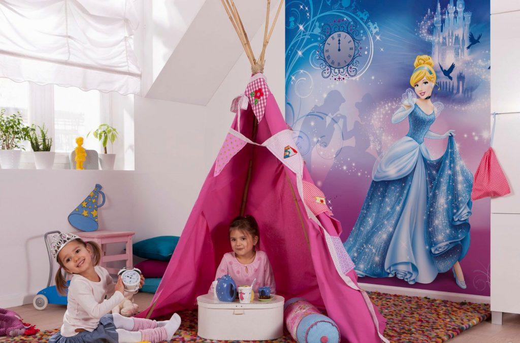 Детская комната для девочек с фотообоями