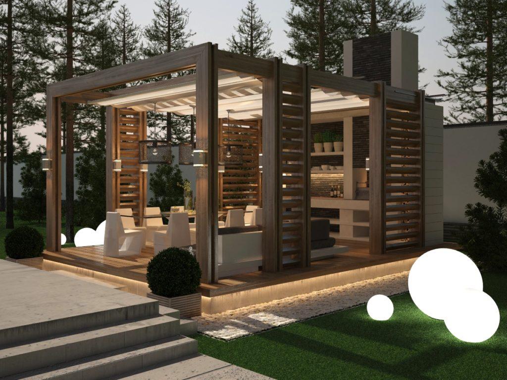 Проект деревянной летней беседки