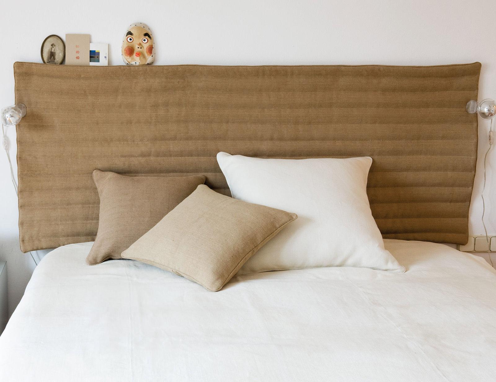 Тканевое изголовье для кровати